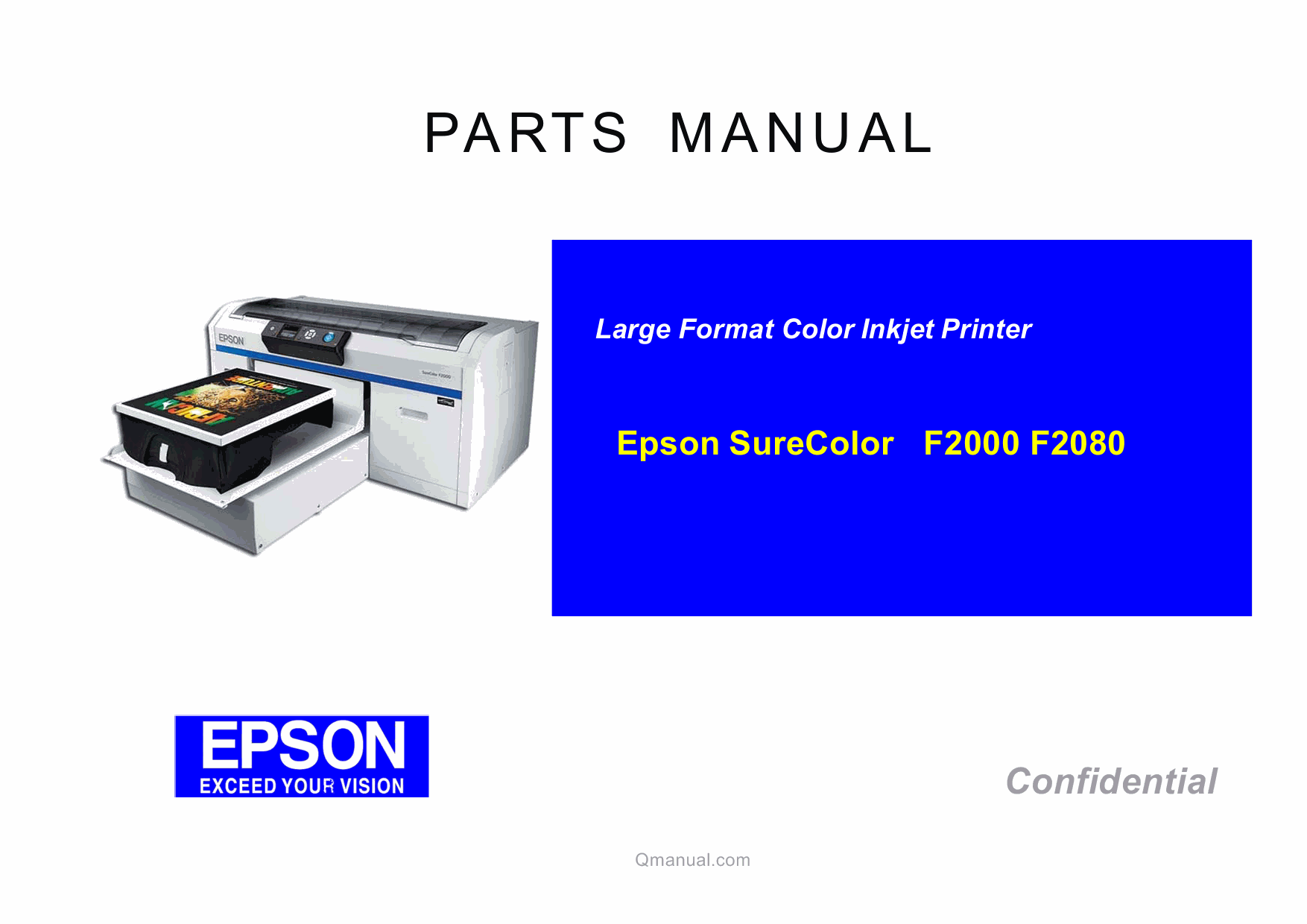 EPSON SureColor F2000 F2080 Parts Manual-1